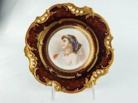 Bavarian Porcelain Portrait Plate