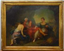 19th Century Italian School Oil on Canvas Painting