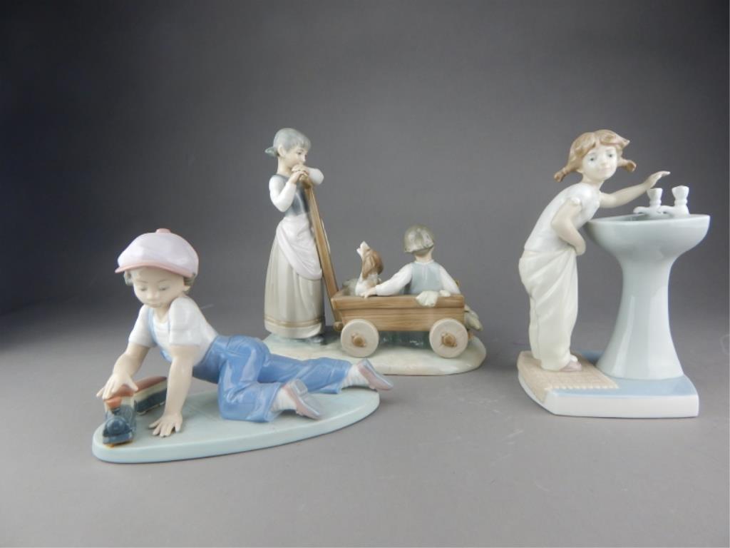 LLADRO Collection of Three Lladro Figurines