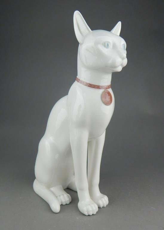 Lladro Large Cat