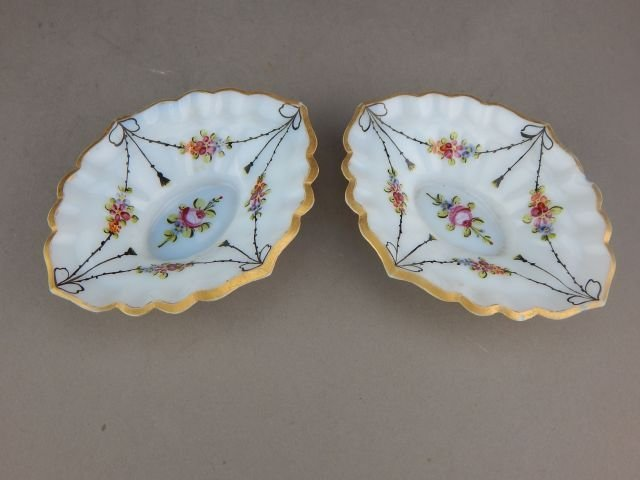 Pair of Miniature Opaline Dishes