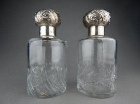 Pair of Baccarat Crystal Perfume Bottles