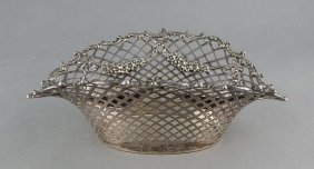 Wm Wise & Sons Sterling Silver Reticulated Basket