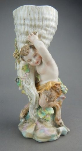 Meissen Porcelain Satyr Figure with Horn of Plenty