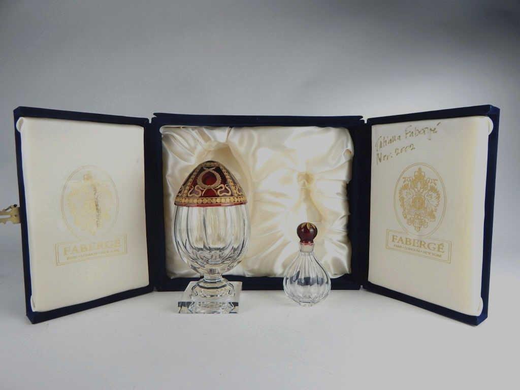 """Faberge Perfume Bottle with """"Karsavina Egg 26"""""""