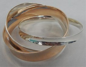 Tiffany & Co. Sterling & Special Metals Bangle Set