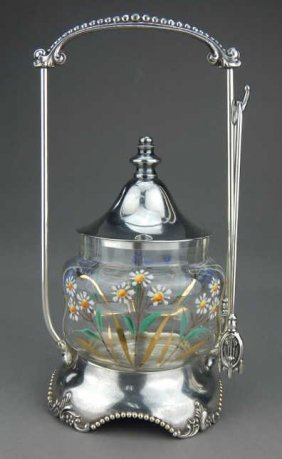 Poole Victorian Clear Glass Pickle Castor