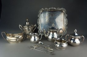 Thirteen Pieces Of Decorative Silver Plated Items