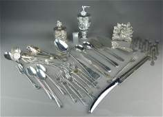 Forty One Pieces of Silver Plate Pewter  Misc