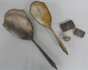 Sterling Vanity Set With Other Assorted Pieces