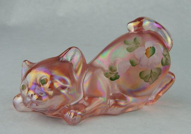 Mats Jonasson Crystal Cat & Fenton Crystal Cat - 2