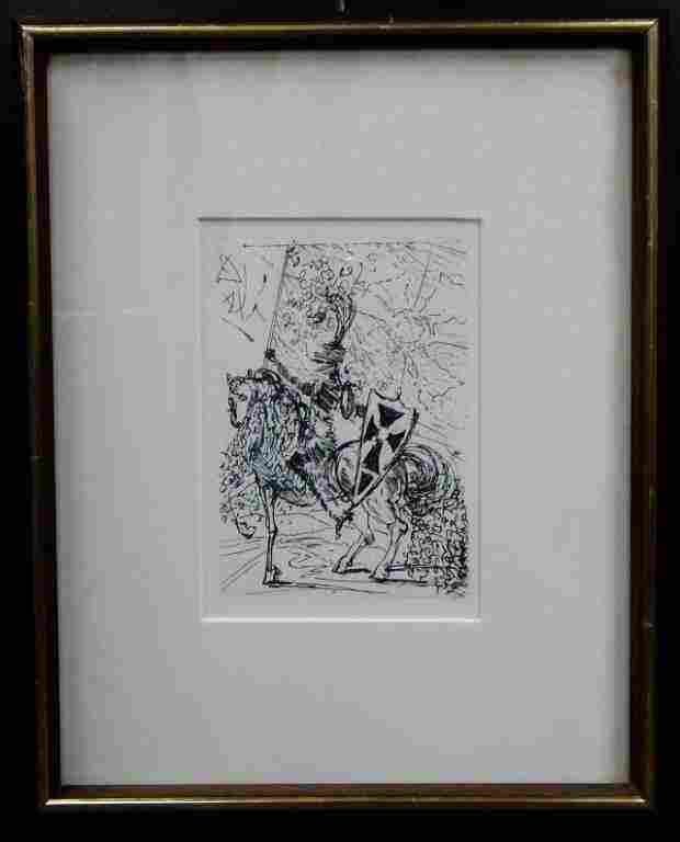 Salvador Dali (1904-1989) Don Quixote 1955 Etching