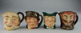 Four Vintage Royal Doulton England Whiskey Mugs
