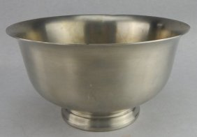 J C Boardman Colonial Pewter Paul Revere Bowl