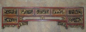 Early 19th Century Chinese Carved Over Door