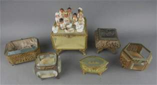 Vintage Jewelry Caskets and Miniature Nativity Set