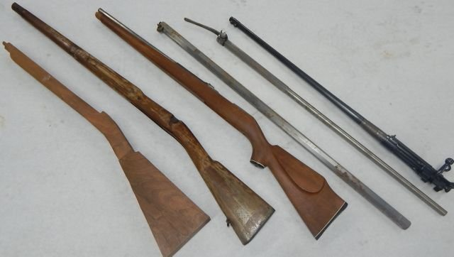 Three Incomplete Black Powder Rifles