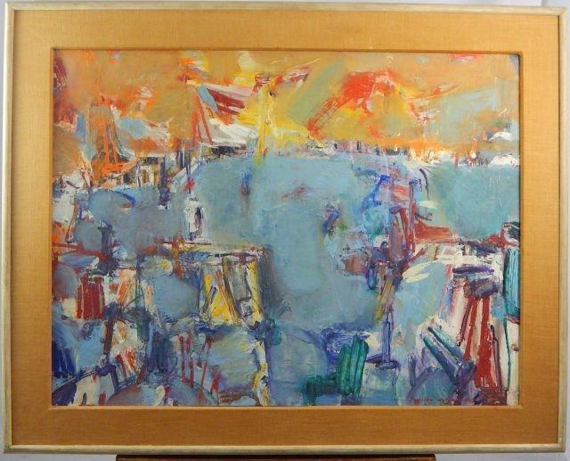 Vaclav Vytlacil (1892-1984) Venice Oil on Paper