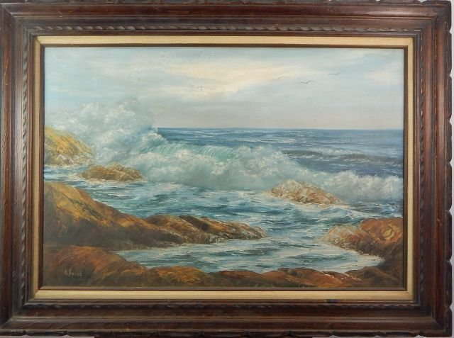 A. Beard Seascape Oil Painting