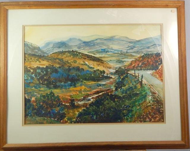 """Lee Hughes """"Modjeska Canyon"""" Watercolor Painting"""