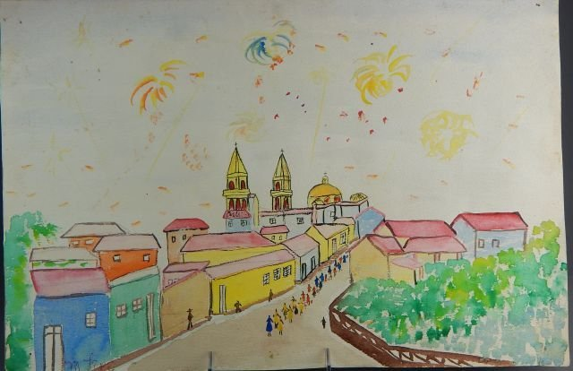 Manuel Lepe Macedo (1936-1984) Watercolor on Paper