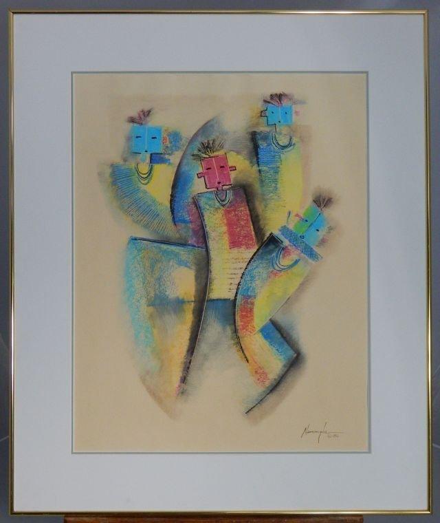 """Dan Namingha (1950-) """"Dancers"""" 1986"""