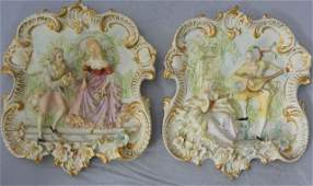 Pair a Vintage Italian Musical Couple Wall Hanging