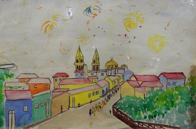 Manuel Lepe Macedo (1936-1984) Watercolor on Paper - 2