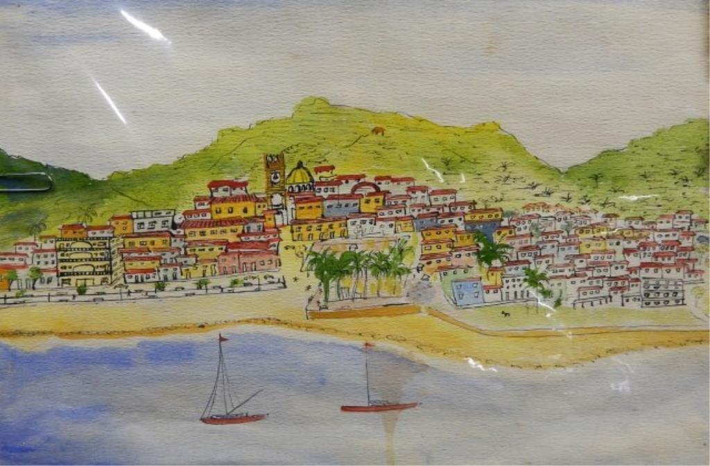 Manuel Lepe Macedo (1936-1984) Watercolor on Paper - 3