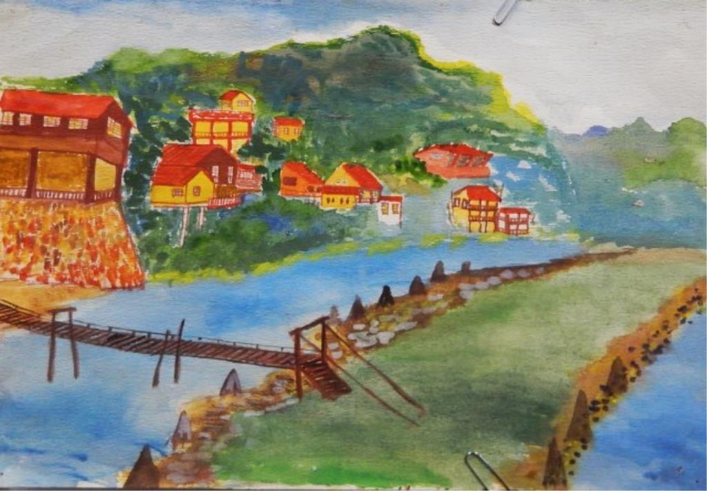Manuel Lepe Macedo (1936-1984) Watercolor on Paper - 5