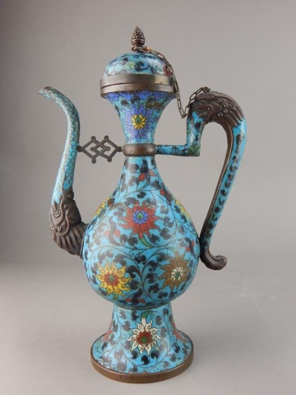 Chinese Ming Cloisonne Teapot