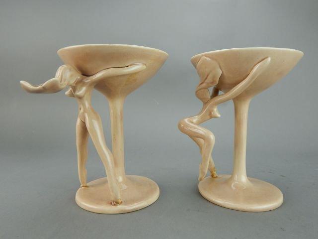 Dorothy Kindell Naughty Pottery Nude Martini's - 3