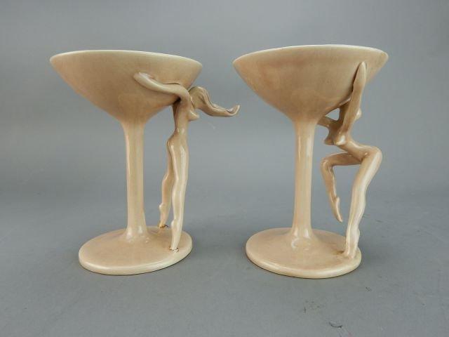 Dorothy Kindell Naughty Pottery Nude Martini's - 4