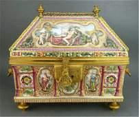 Very Large 19th Century Capodimonte Box