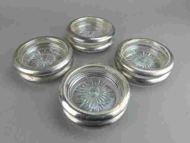Eight Italian Cut Crystal Coasters