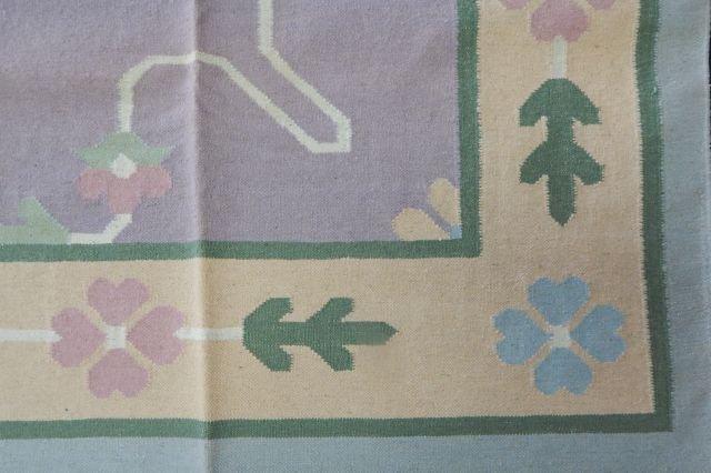 Dhurrie 100% Virgin Wool Rug 12' x 9' - 2