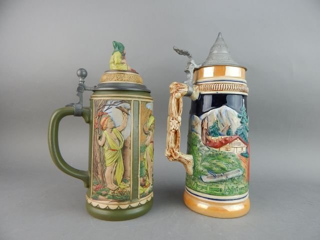 Five Large Gerz and West Germany Beer Steins - 3
