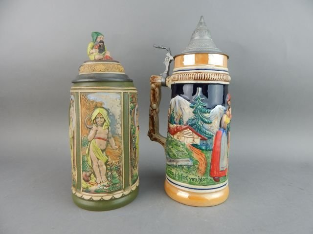 Five Large Gerz and West Germany Beer Steins - 4