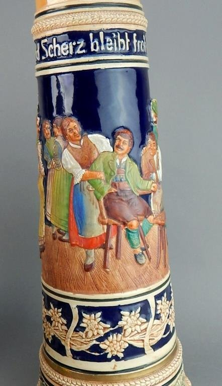 Five Large Gerz and West Germany Beer Steins - 6