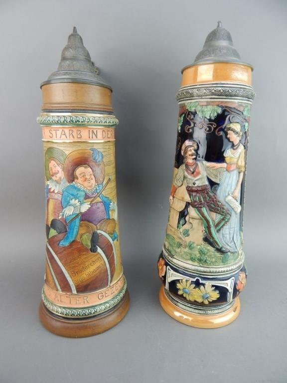 Five Large Gerz and West Germany Beer Steins - 9