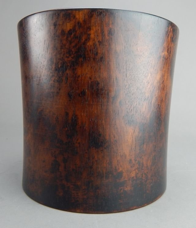 Hardwood Brush Pot - 2