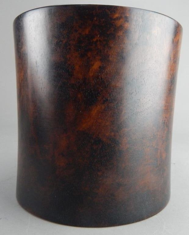 Hardwood Brush Pot - 3