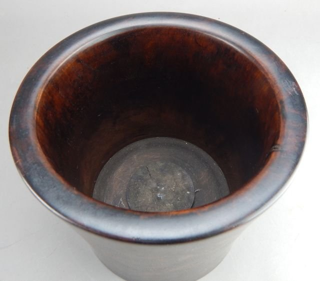 Hardwood Brush Pot - 4