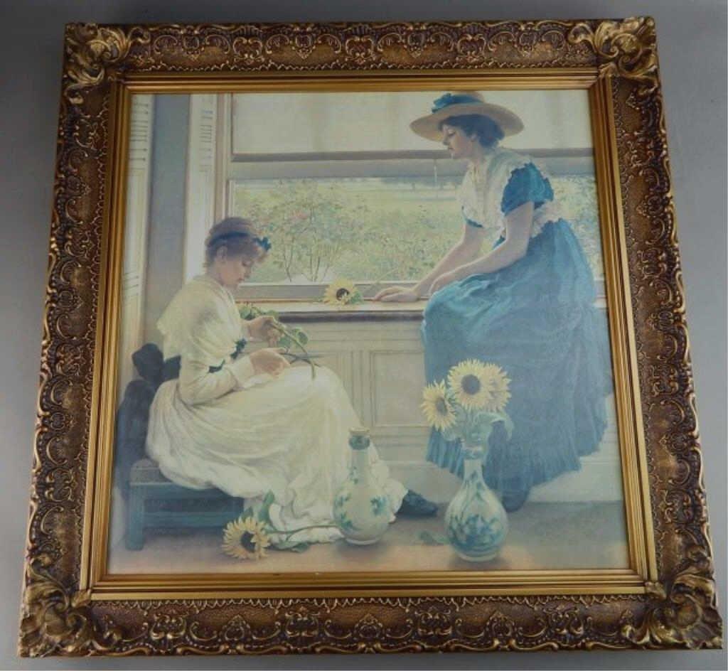 "George Dunlop Giclee Print ""Sun & Moon Flowers"""