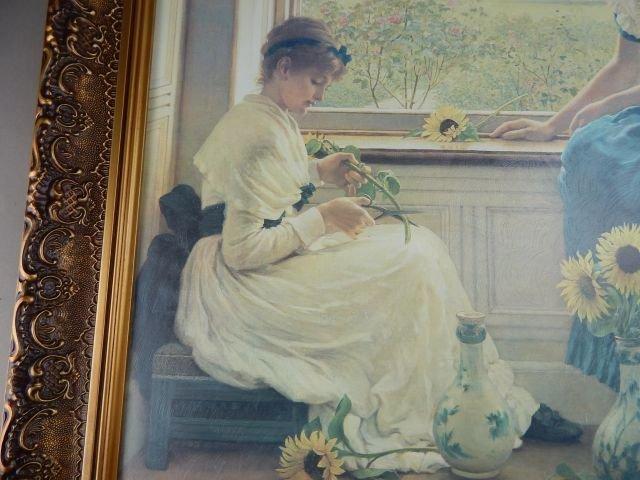 "George Dunlop Giclee Print ""Sun & Moon Flowers"" - 3"