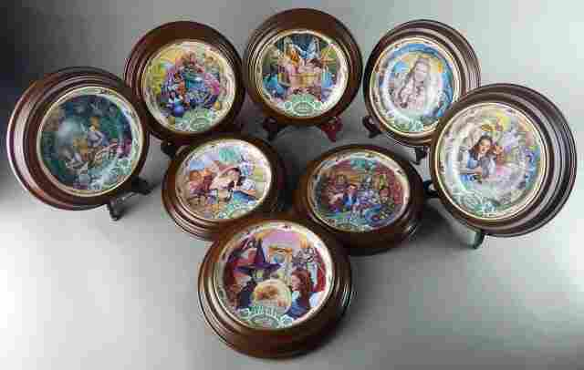 Eight Framed Wizard of Oz Music Box Plates