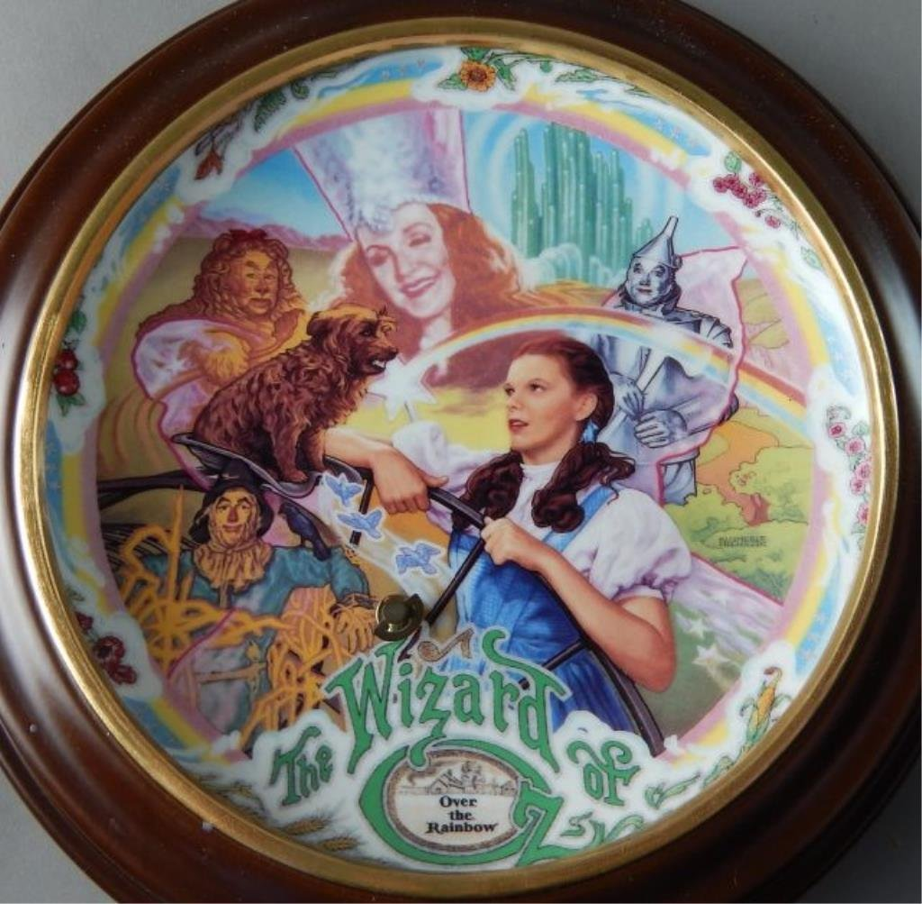 Eight Framed Wizard of Oz Music Box Plates - 3