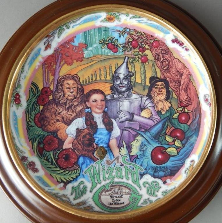 Eight Framed Wizard of Oz Music Box Plates - 4