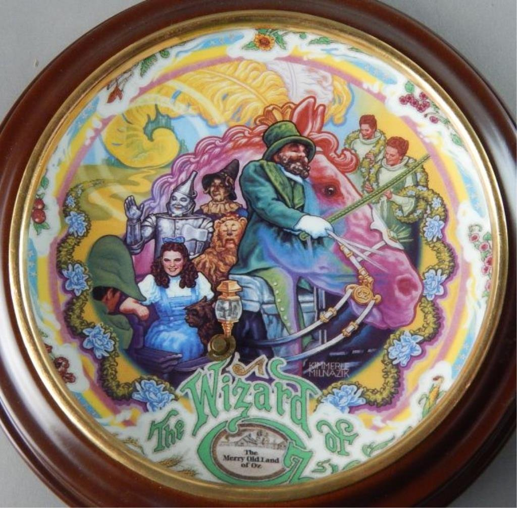 Eight Framed Wizard of Oz Music Box Plates - 5