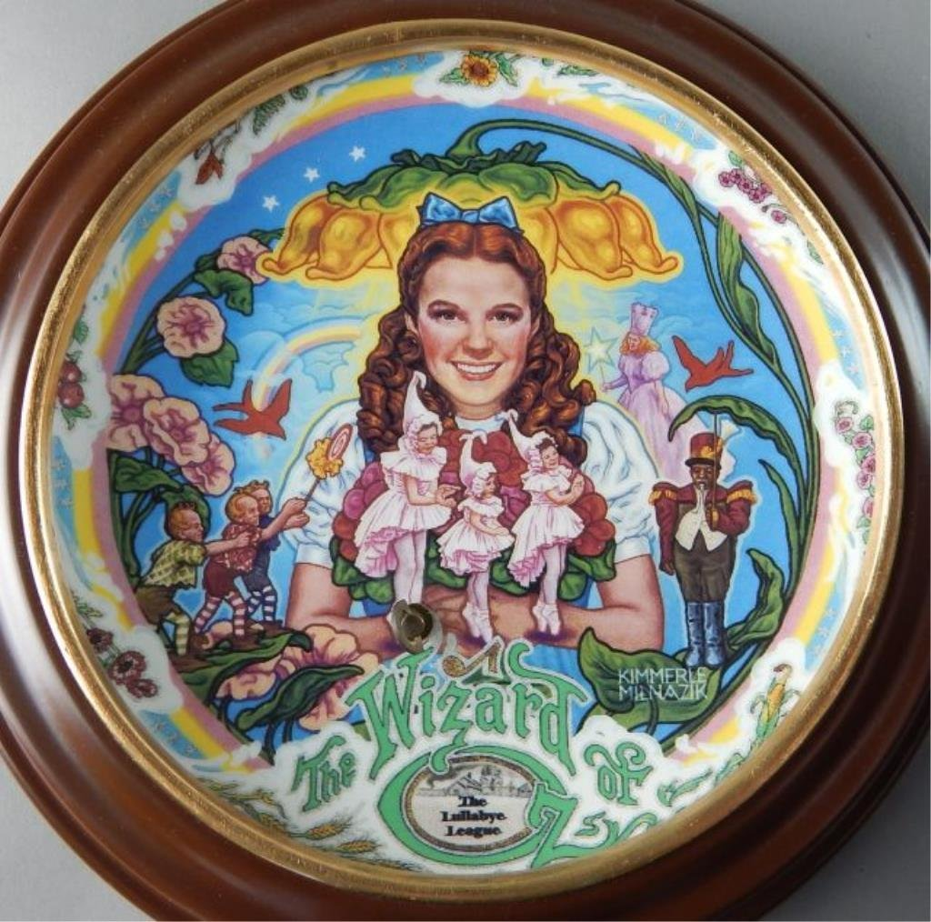 Eight Framed Wizard of Oz Music Box Plates - 6